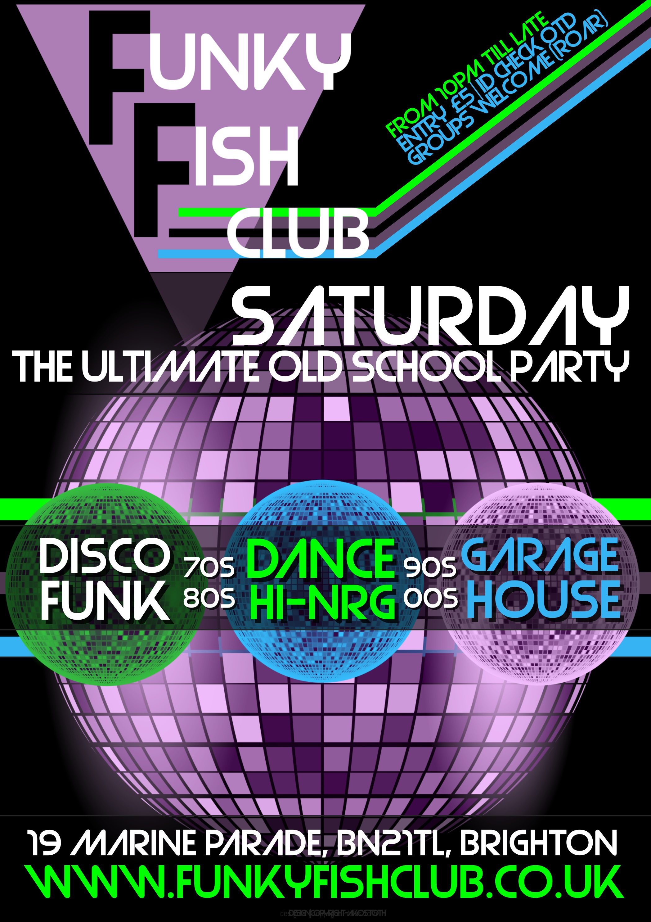 The Ultimate Old School Party - FunkyFish Club Brighton