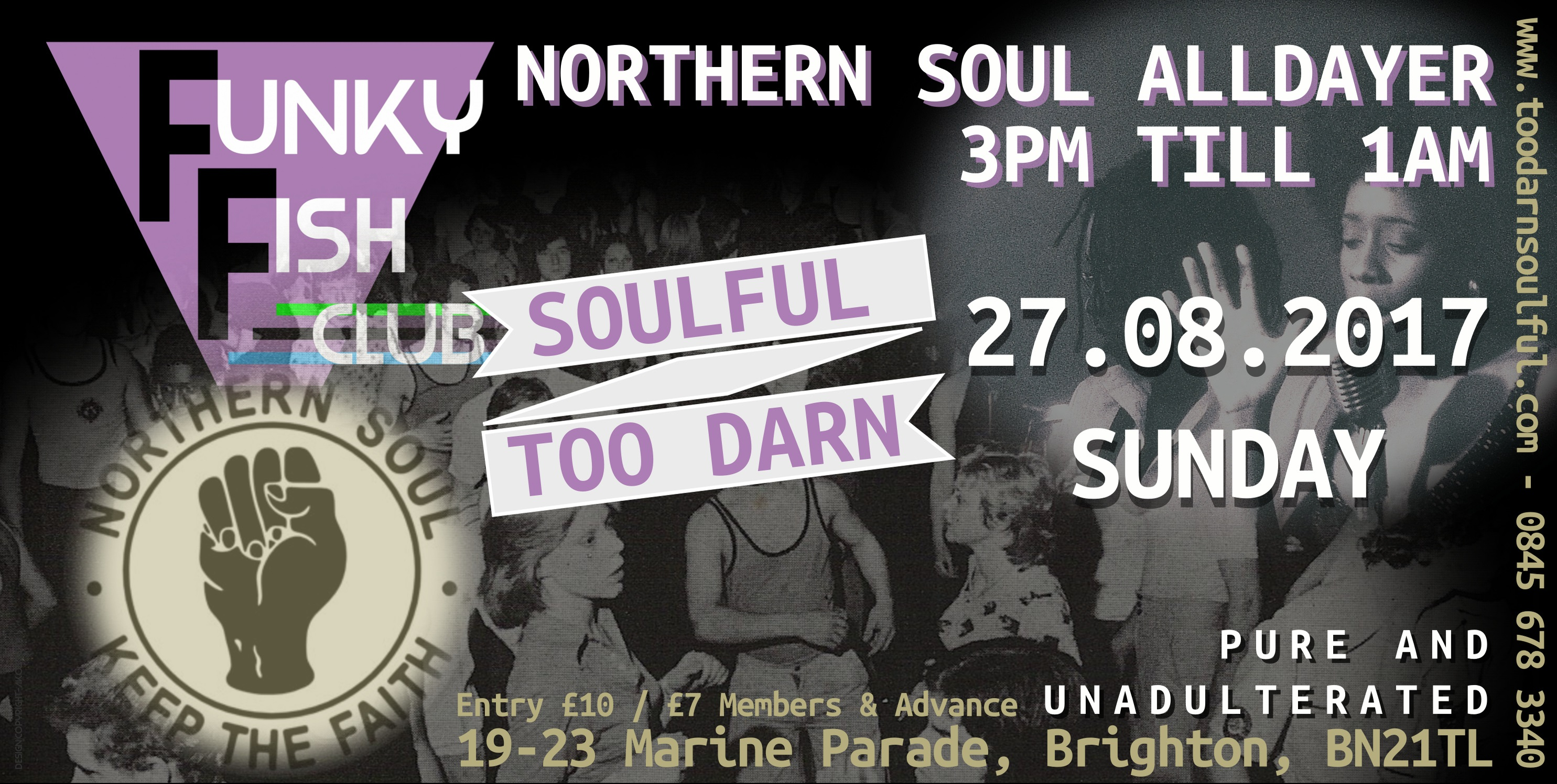 SUNDAY 27th AUGUST - NORTHERN SOUL ALL DAYER