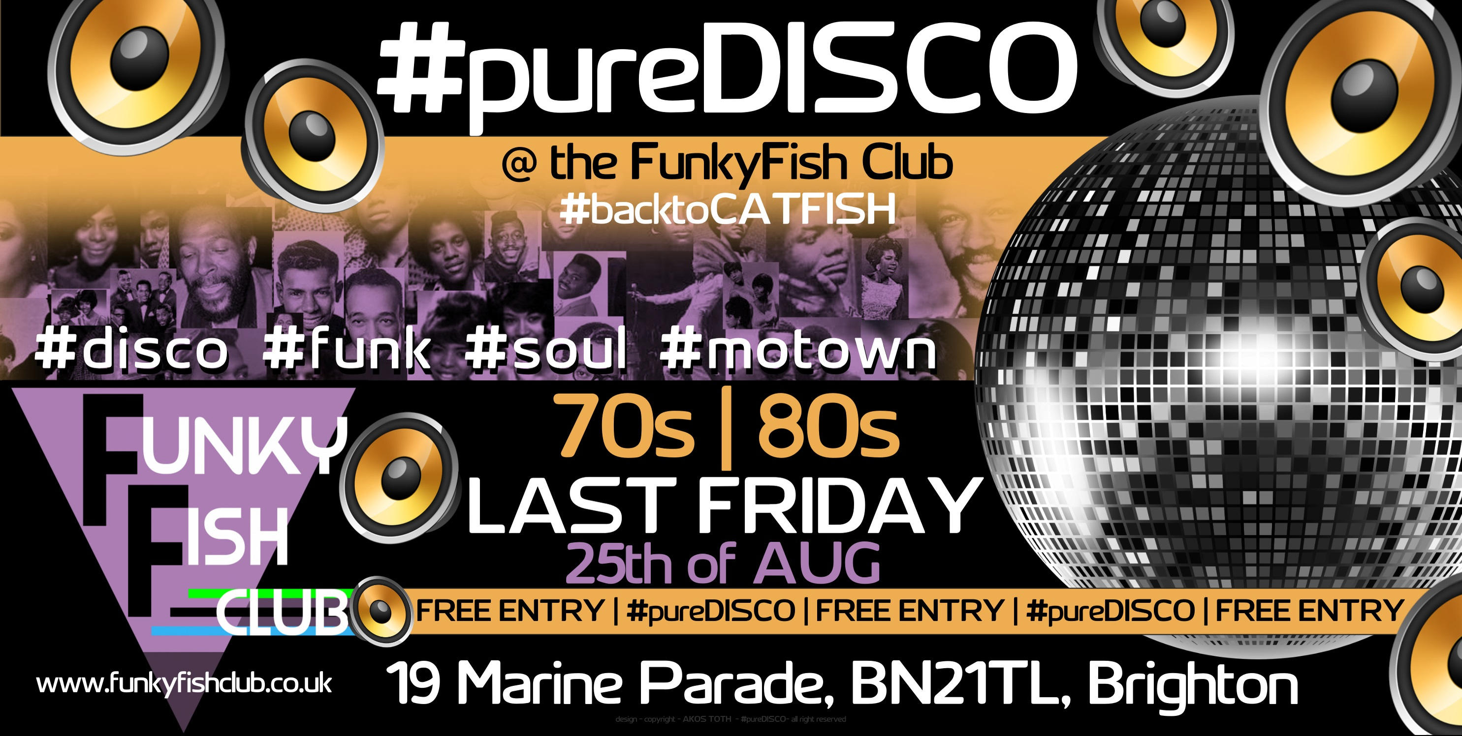 FRIDAY 25th AUGUST - PURE DISCO
